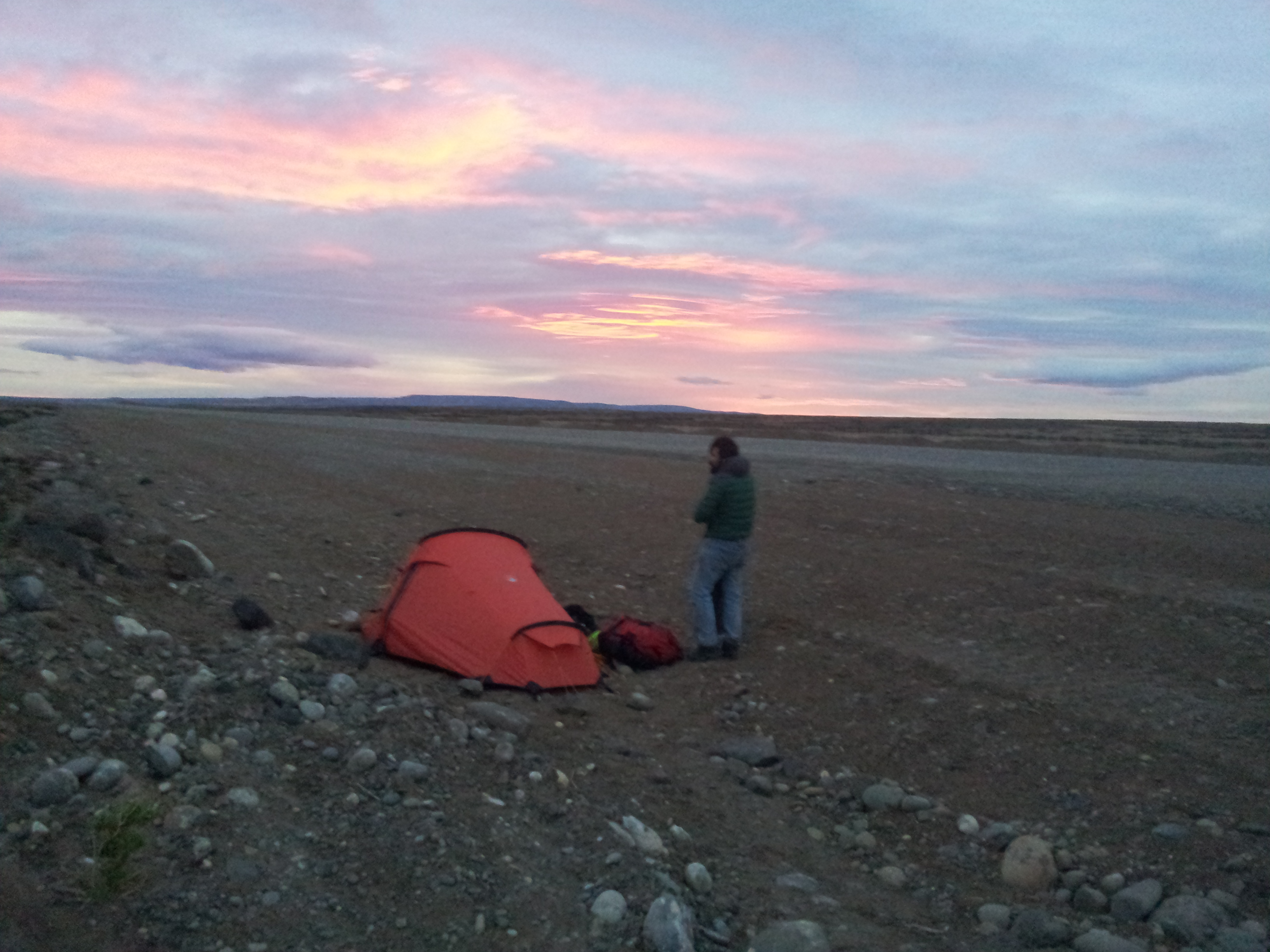 Wild camping on the road side