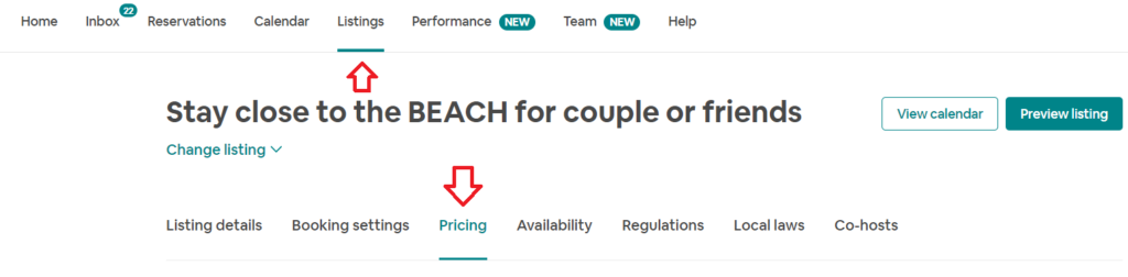 airbnb host tips pricing & fees