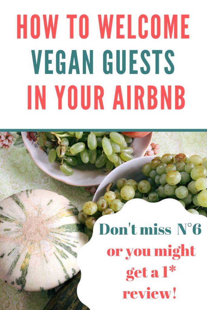welcome basket vegan guests airbnb