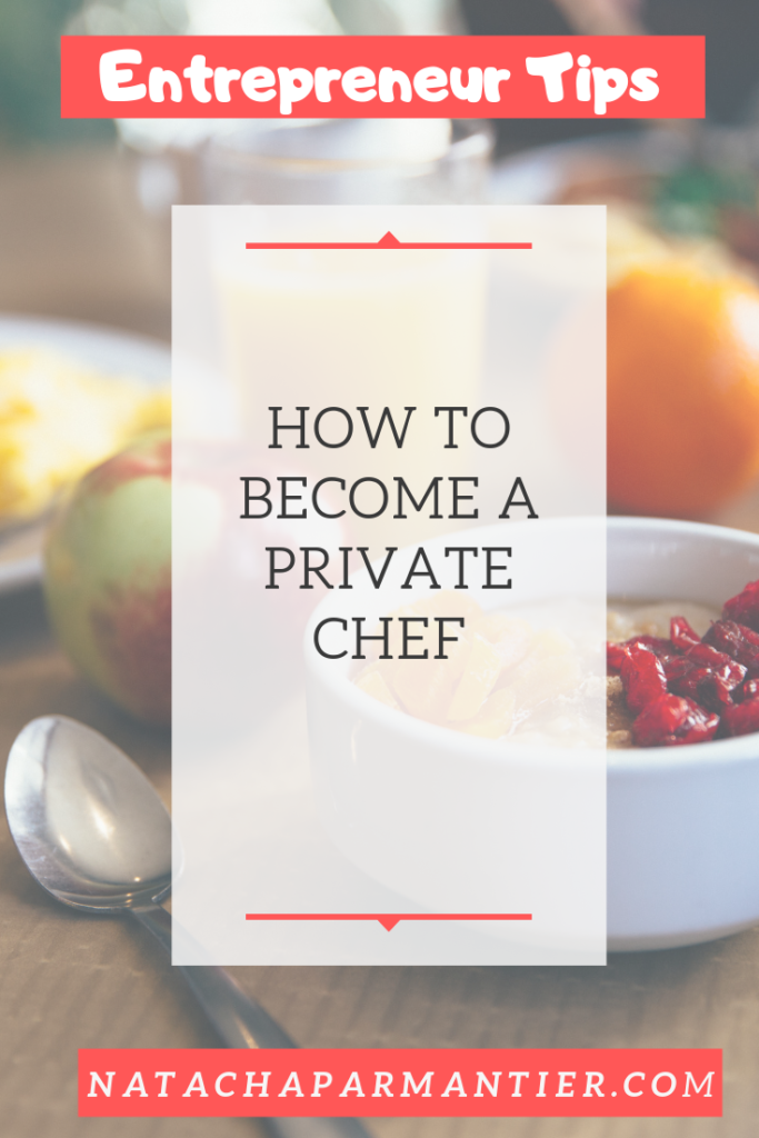 become a private chef for vacation rentals
