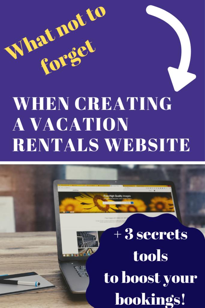 website vacation rentals tips