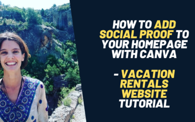 How to add reviews to your vacation rental homepage website with Canva