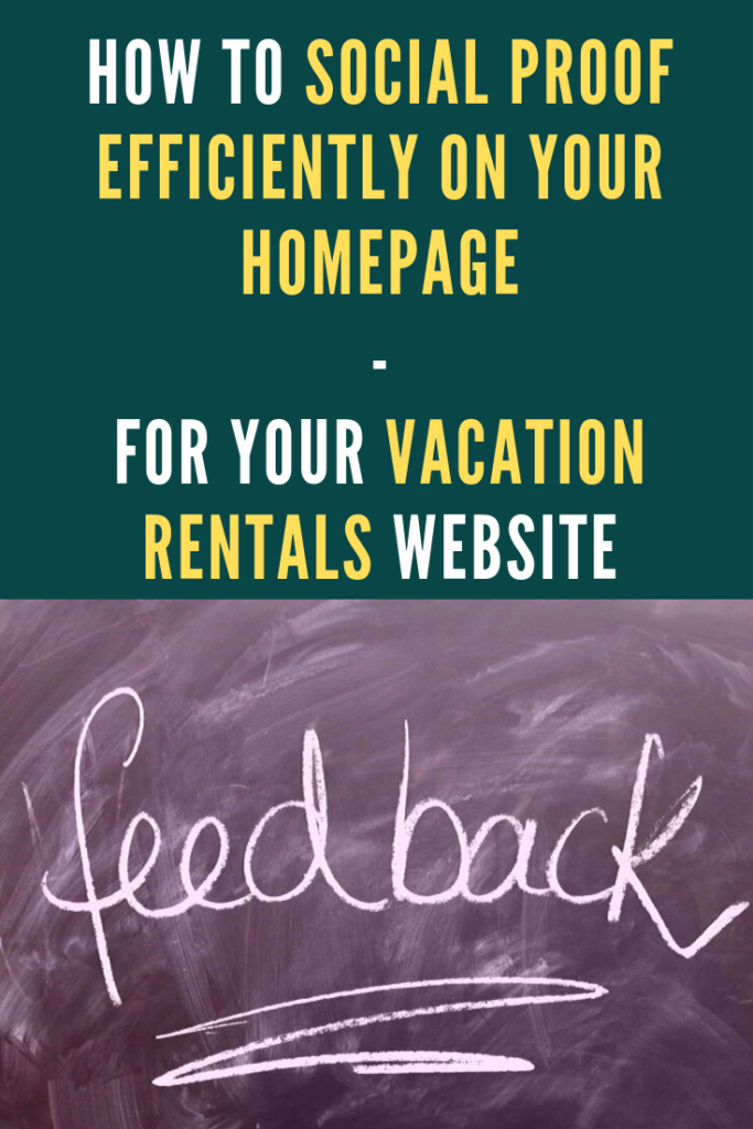 How to add social proof to your vacation rentals homepage website with Canva