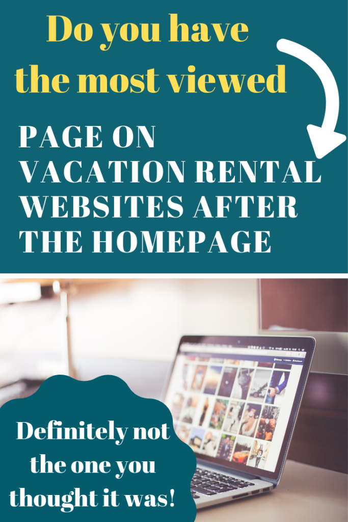 vacation rentals website digital pages