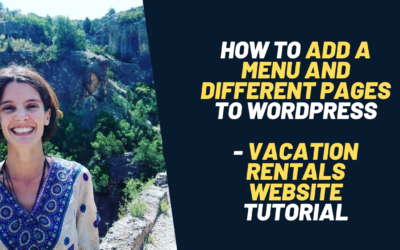 How to create pages and add a menu for your vacation rentals website – Digital marketing
