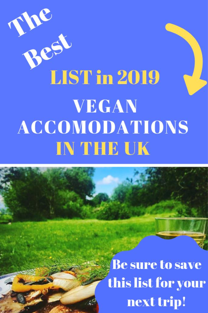 vegan accomodation airbnb uk