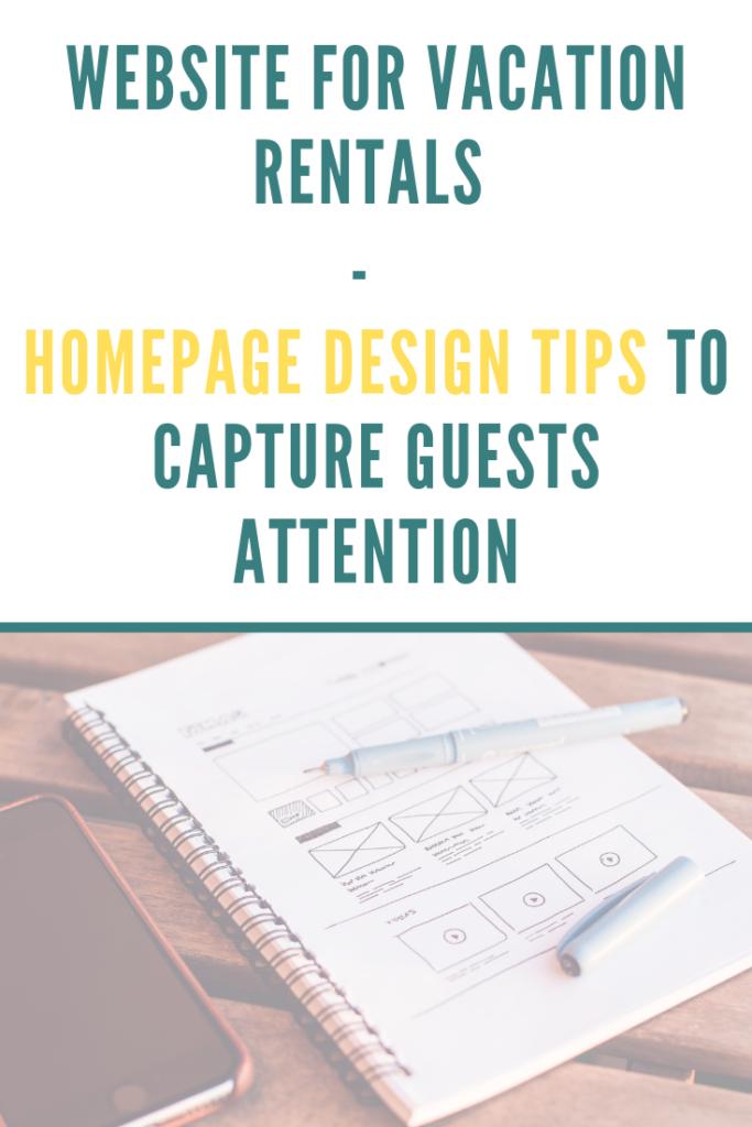 design tips vacation rentals homepage
