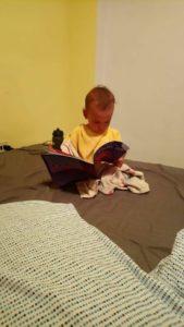 vegan kid reading books
