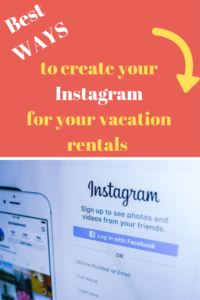 create instagram business account airbnb vacation rental