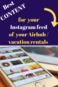 create instagram feed content business account airbnb vacation rental
