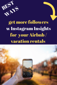 instagram insights followers airbnb vacation rentals