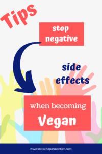 tips transition vegan diet stop negative side effects